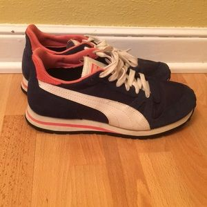 Puma shoes size 8.5 navy and pink